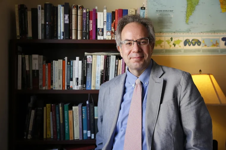 Andrew Shankman, a professor of history at Rutgers, poses in his office on October 17, 2016.