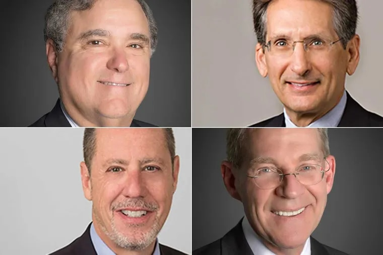 Ballard Spahr merged with Levine Sullivan Koch & Shultz on 9/12/2017. The merger creates a media law powerhouse featuring (clockwise from top left) Lee Levine, David Bodney, Michael D. Sullivan, and Charles Tobin.