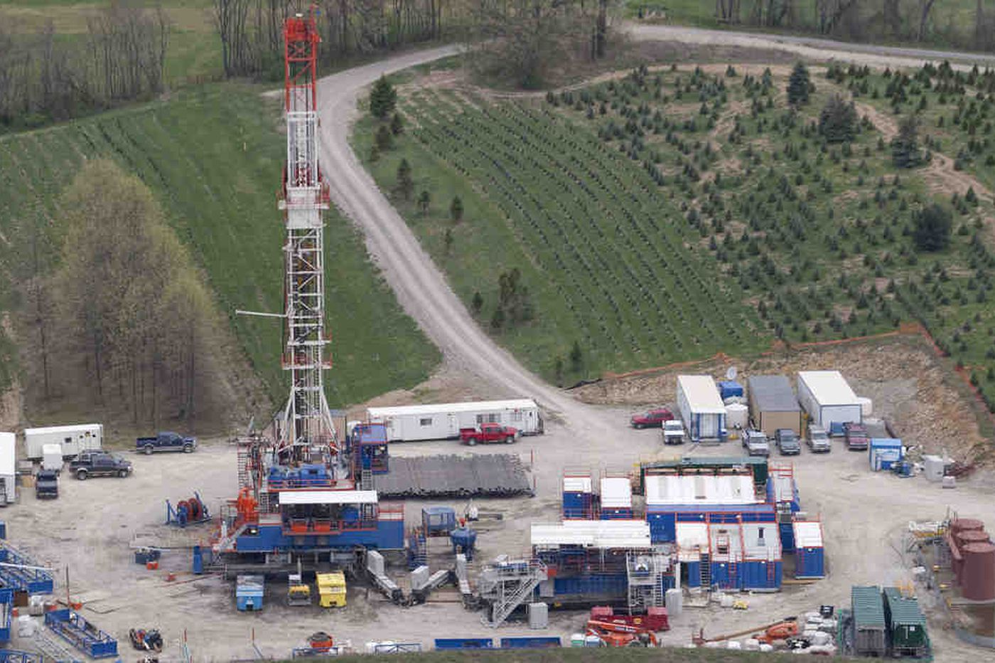 Out West, campus gas wells not new