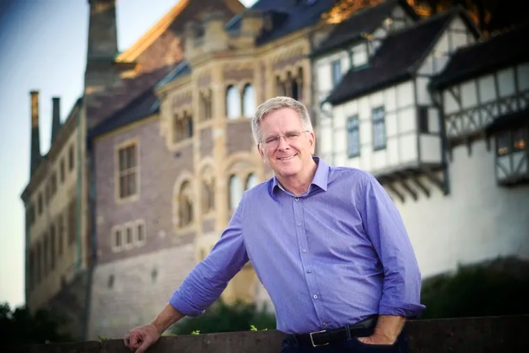 Guidebook author and television personality Rick Steves at Wartburg Castle in Germany.