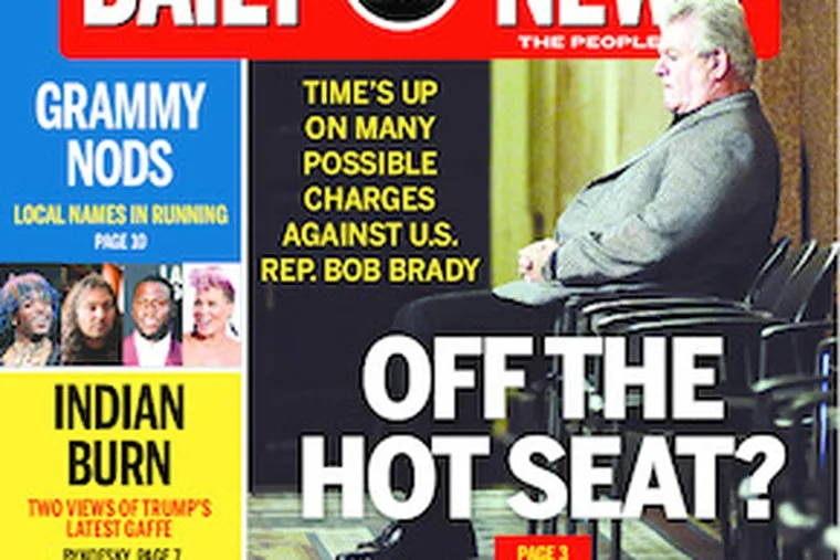 Daily News front page  11/29/17