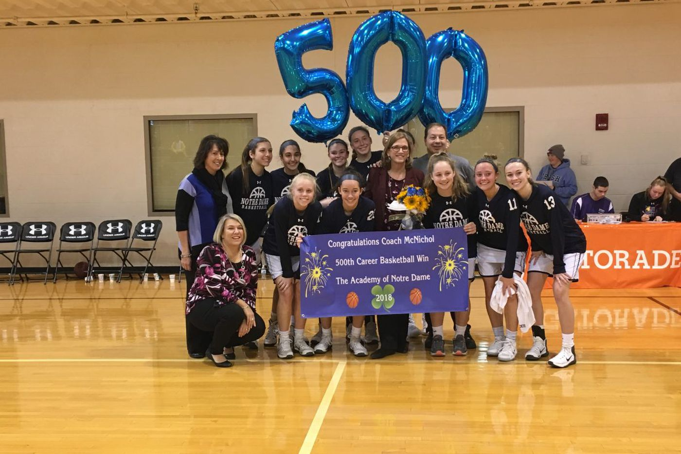 Notre Dame coach Mary Beth McNichol picks up career win No. 500