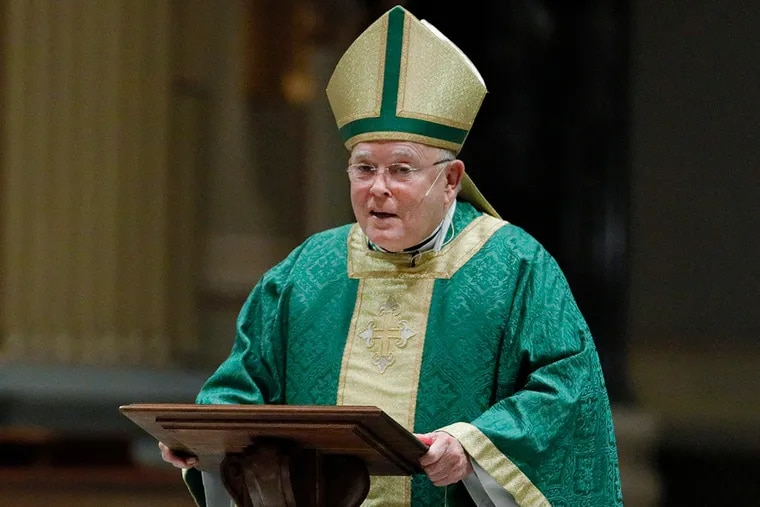 Archbishop Charles Chaput officiates his final Sunday Mass at the Cathedral Basilica of Saints Peter and Paul in Philadelphia on Feb. 16, 2020.
