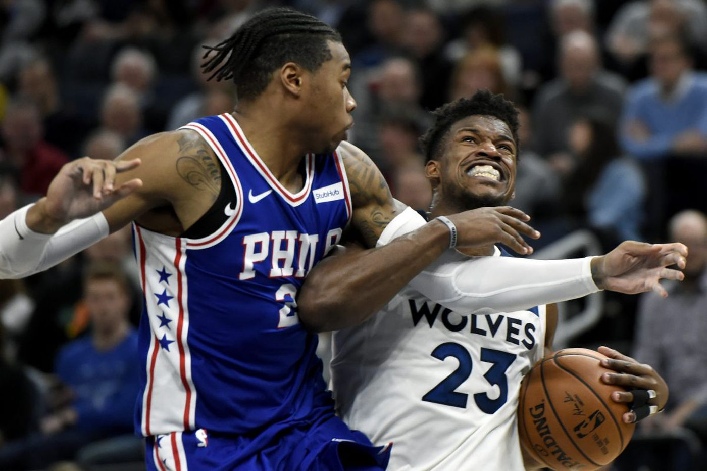 76ers beat Timberwolves in overtime to end four-game skid