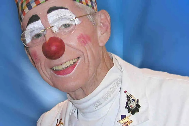 """As Bumper """"T"""" Clown, he created a not-for-profit organization for hospital clowns in the Philadelphia region and even beyond."""