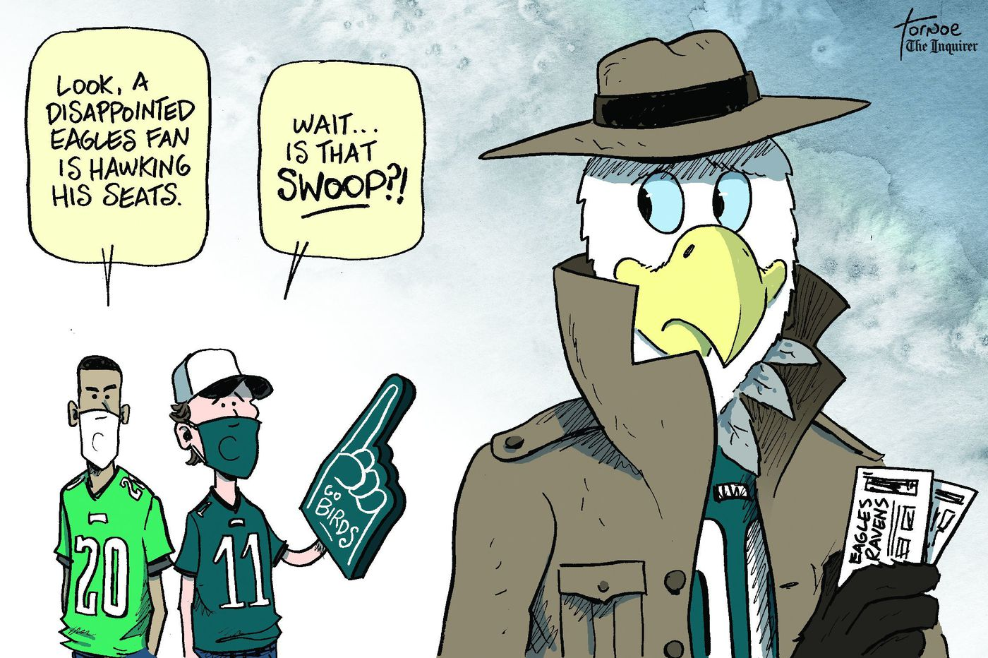 Cartoon: Selling your Eagles-Ravens tickets? You're not alone.