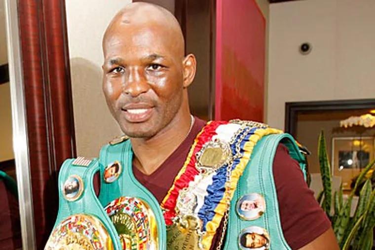 Bernard Hopkins became the WBC light heavyweight champ after defeating Jean Pascal. (Charles Fox/Staff Photographer)