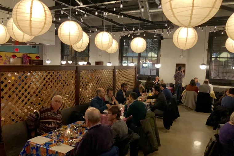Dining room at Laser Wolf in Kensington, seen during a Dec. 20, 2019, preview dinner.