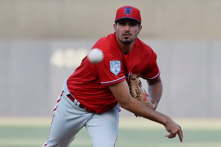 Phillies pitcher Zach Eflin allowed just one earned run in five innings Monday against the St. Louis Cardinals in Jupiter, Fla.
