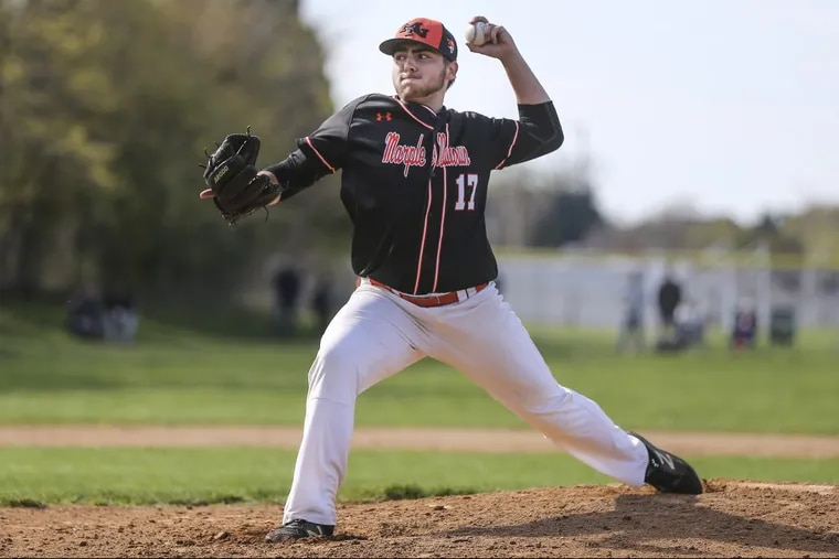 Luke Zimmerman throws in Monday's 12-2 win over Central League rival  Garnet Valley.