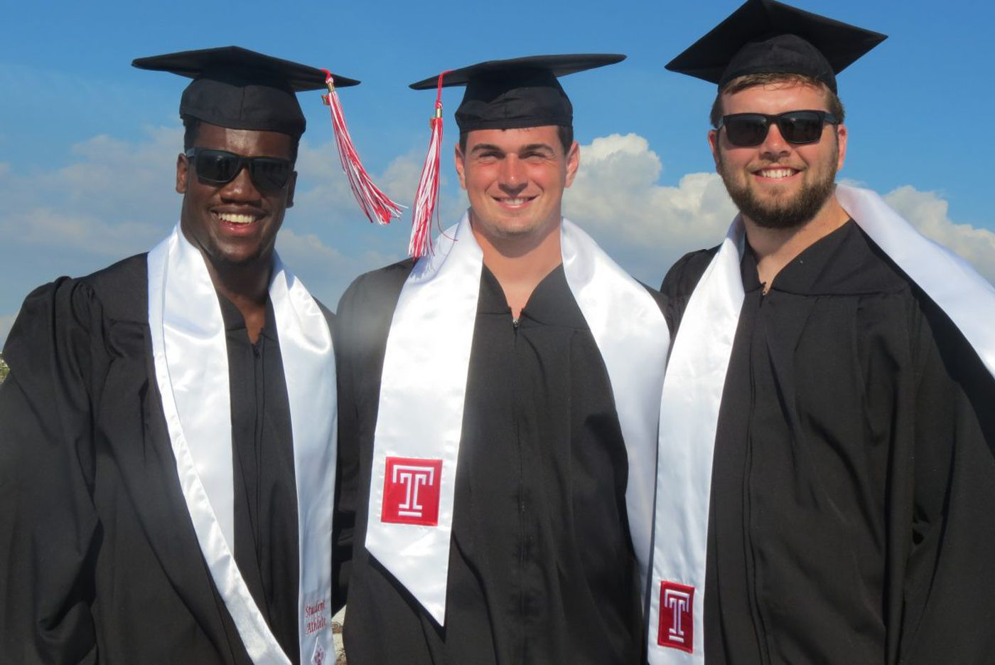 Temple football players have a high degree of success