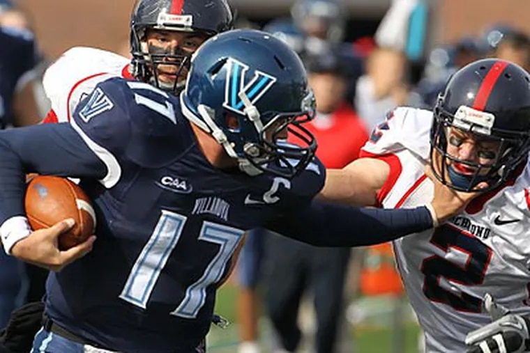 QB Chris Whitney and Villanova will face Appalachian State in the FCS quarterfinals. (Ron Cortes/Staff Photographer)