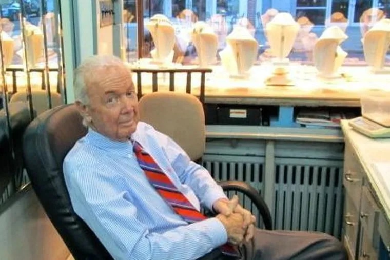 Mr. Wolf was the go-to guy on Jewelers Row for many years for both customers and fellow shopkeepers who needed advice on jewelry.