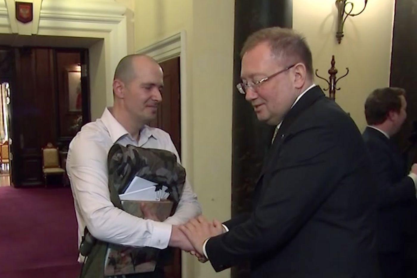 Charlie Rowley: Novichok victim meets Russian ambassador