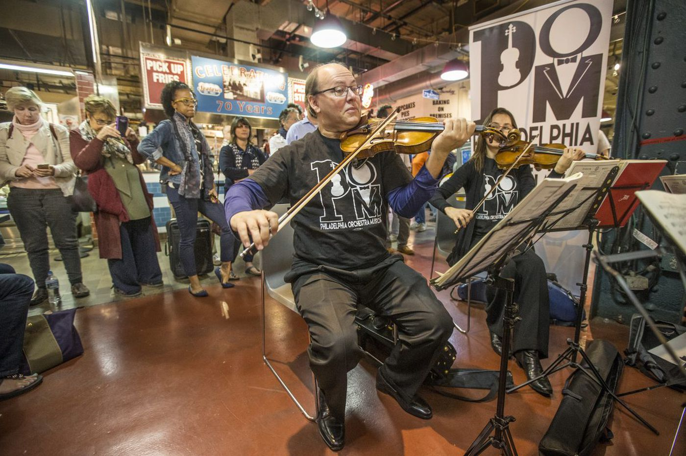 Philadelphia Orchestra musicians fan out across region, cheesesteaks sizzling in accompaniment