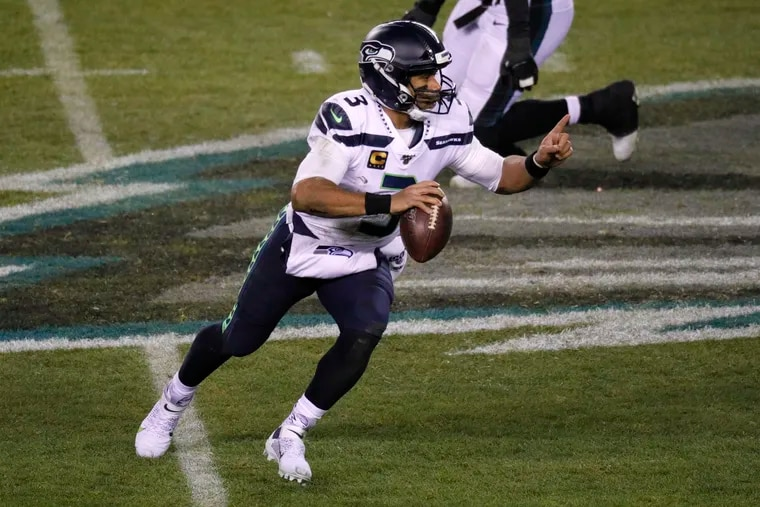 Keeping Seahawks quarterback Russell Wilson in the pocket is a high priority for the Eagles.