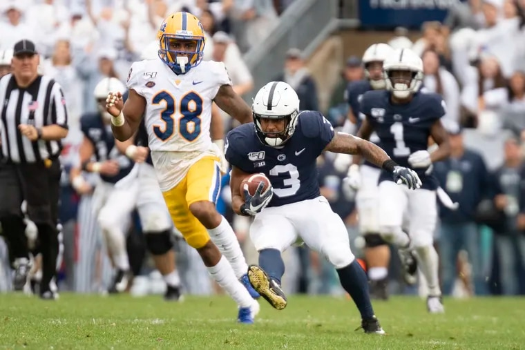 Ricky Slade (3) is part of Penn State's four-headed running attack.