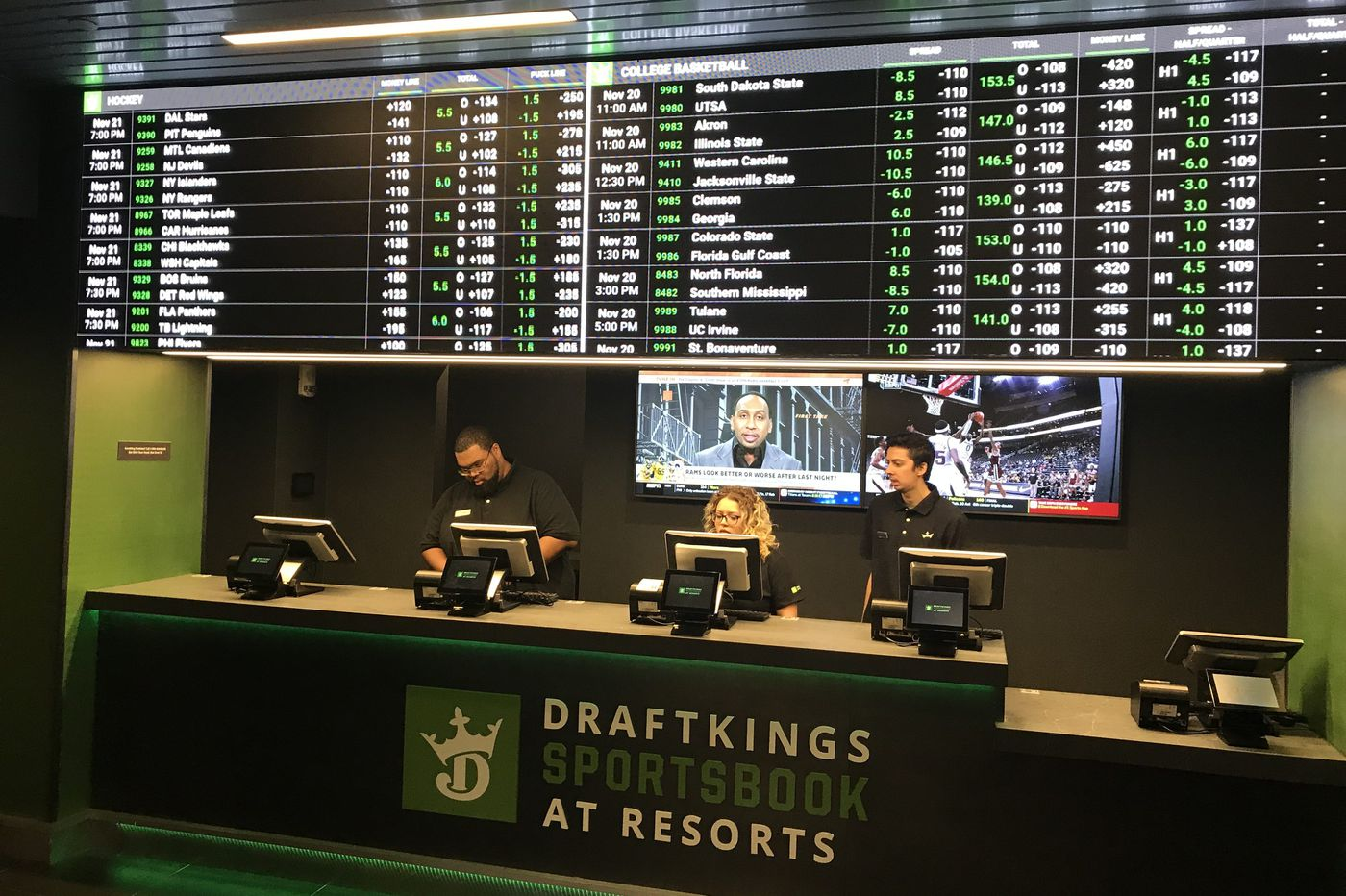 Resorts and DraftKings open permanent sportsbook in Atlantic City