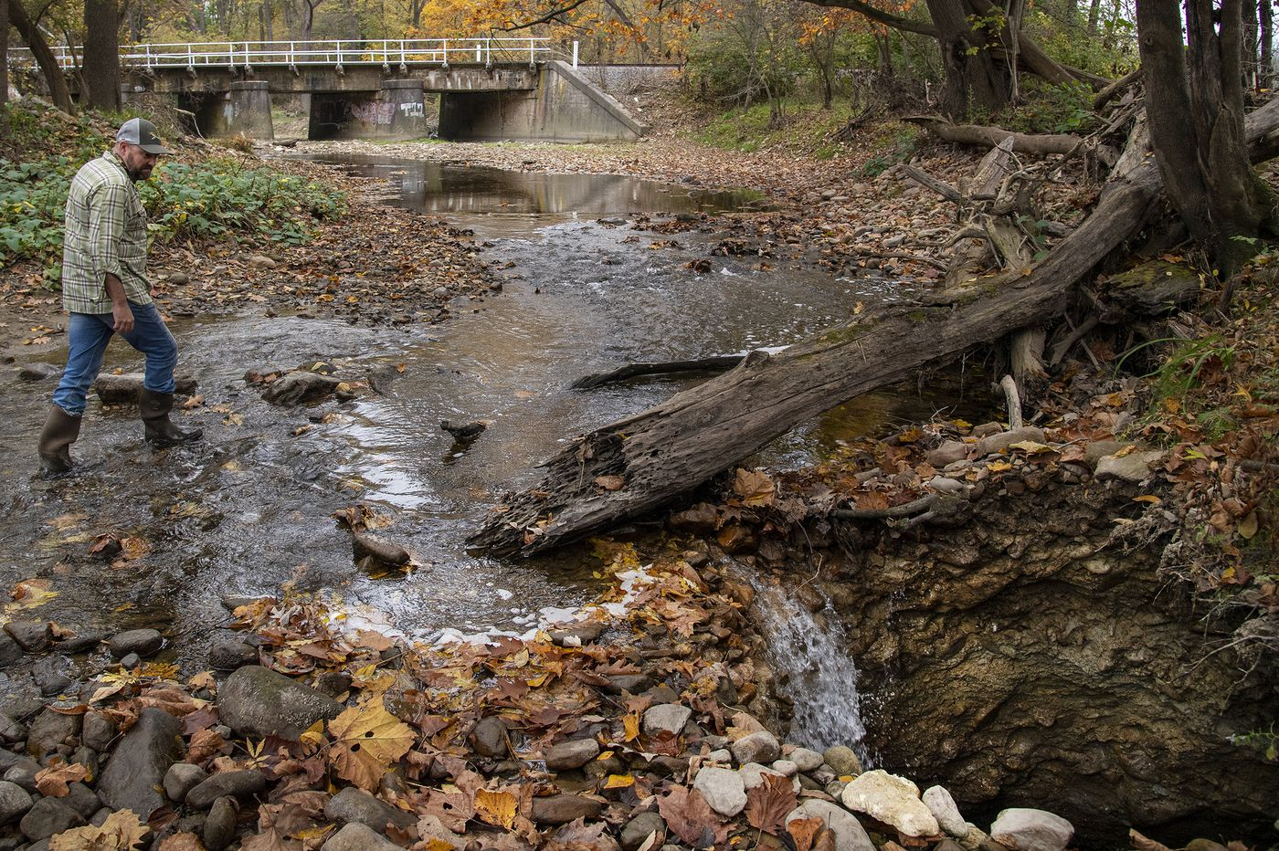 Sinkholes are draining a prized Lehigh Valley trout stream. Is nature to blame, or a nearby cement plant?