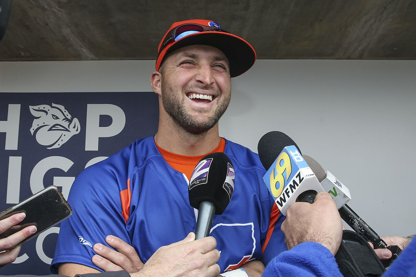 more photos 6f212 09668 Tim Tebow, three years after jumping to baseball, still ...