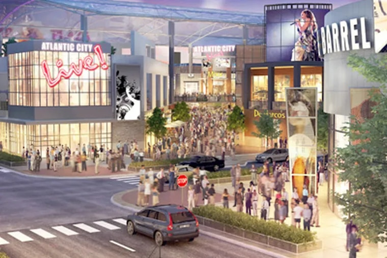 Cordish made its mark in Atlantic City with The Walk, which will expand next year with a LIVE! addition similar to what is planned for Philadelphia. (The Cordish Cos.)