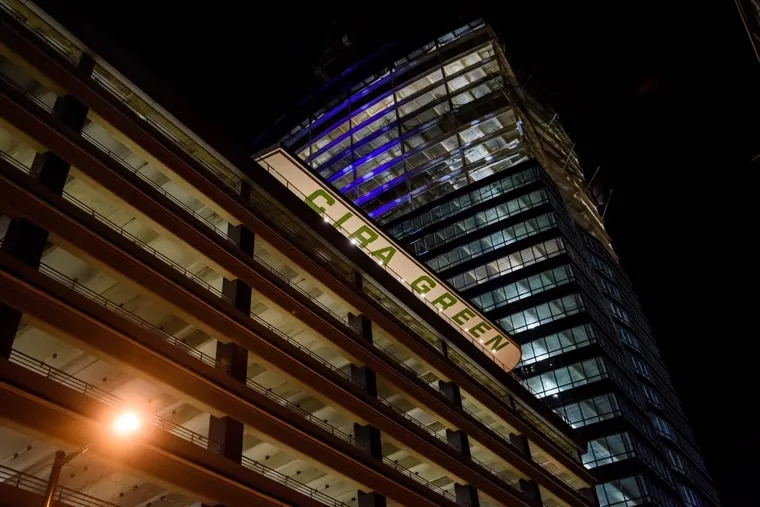 As developers realize that residents' dependency on cars may change years from now, many have increasingly been trying to creatively adapt parking structures. At Brandywine Realty Trust's FMC Tower, the developer built a park atop the garage.