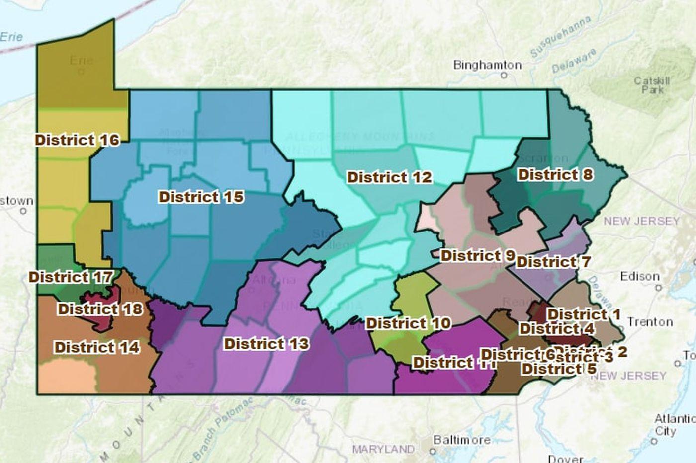 Win cash prizes! Draw Pennsylvania's congressional map