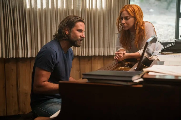 Bradley Cooper, left, and Lady Gaga in a scene from 'A Star is Born.'