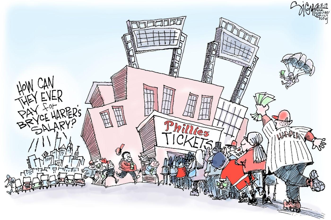 Political Cartoon: Phillies sign Bryce Harper