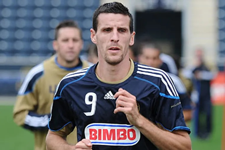 Sebastien Le Toux and the Union are hoping for a strong start in the MLS playoffs. (Sarah J. Glover/Staff Photographer)