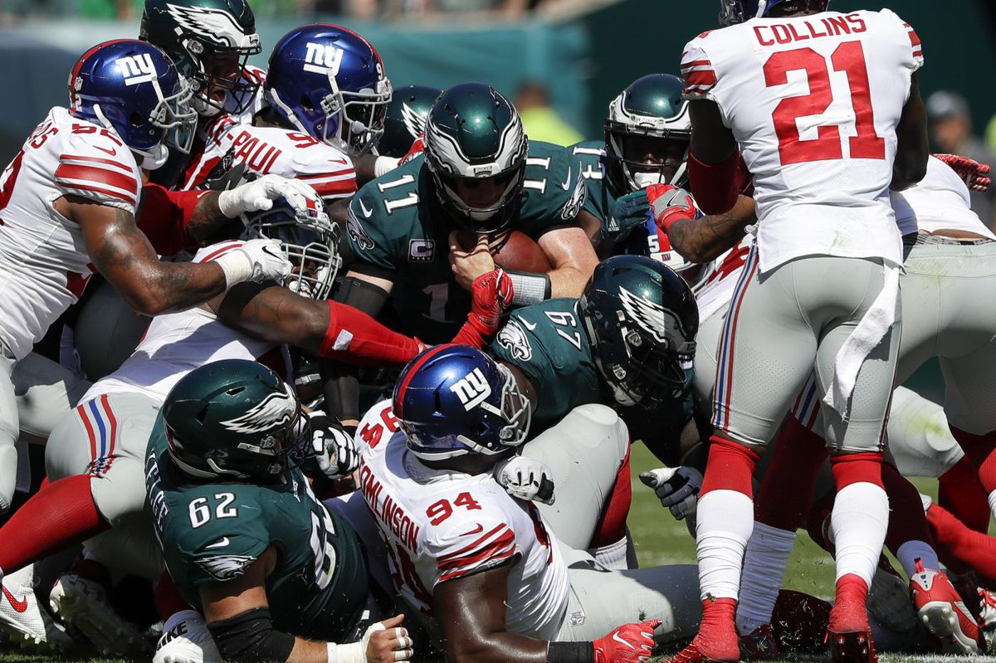 Inside the play that has always worked for the Eagles this season