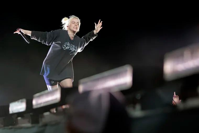 Billie Eilish performs during the 2021 Firefly Festival in Dover, Delaware on Sept. 23, 2021.