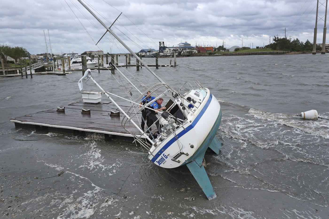 Hurricane Dorian's floodwaters trap people in attics in North Carolina