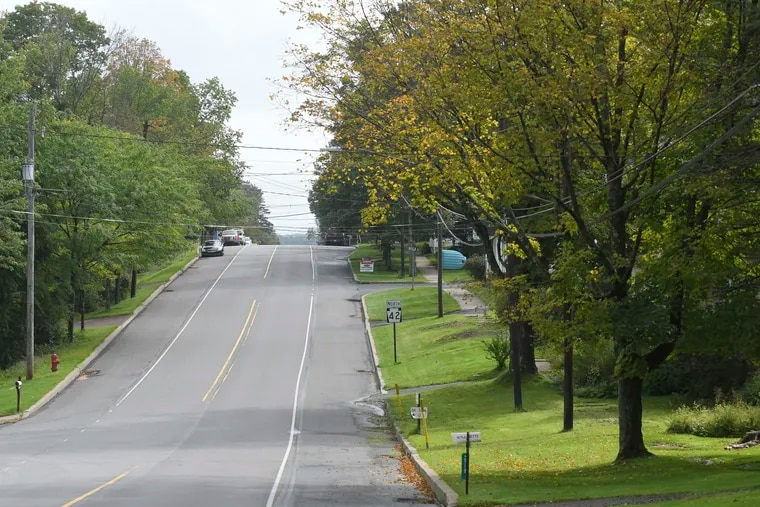 """A view of an empty Main St. in Laporte, Pa. depicts the sparsely populated rural surroundings of Sullivan County on Thursday Sept. 9, 2021. The area known as """"The Endless Mountains"""" is one of many rural counties that showed a decrease in population in the 2020 census."""