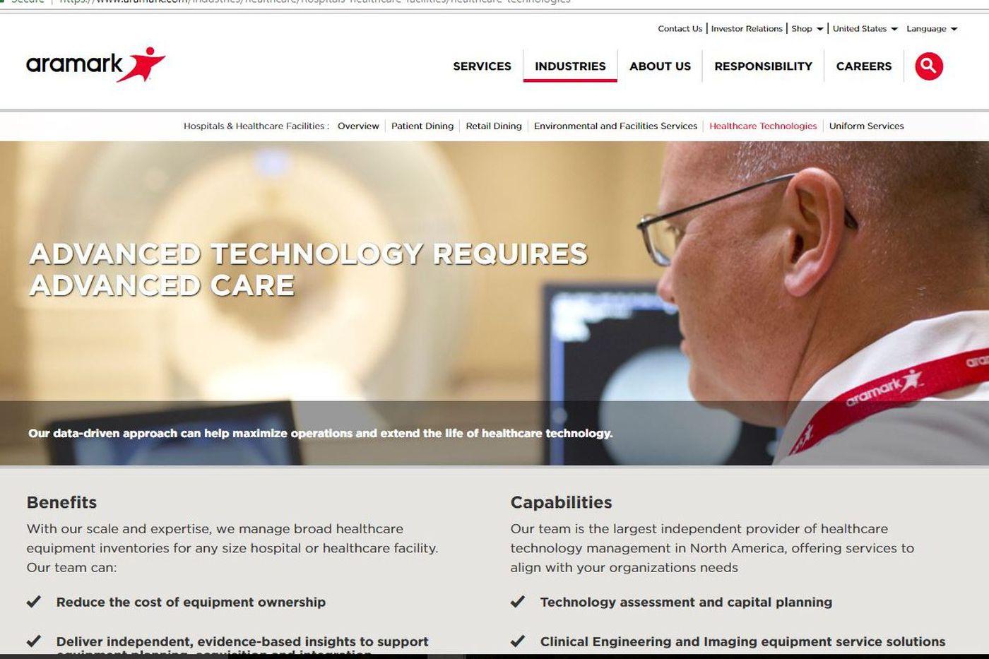 Aramark sells health-care tech business