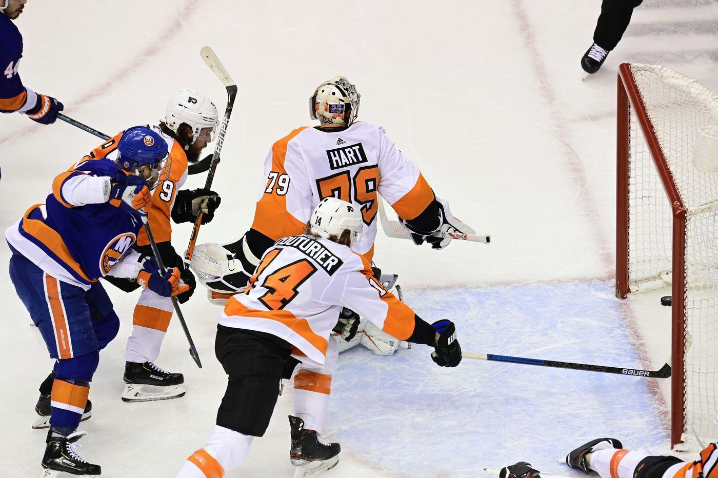 Oskar Lindblom, cancer survivor, takes part in pre-game skate; close to returning to Flyers' lineup