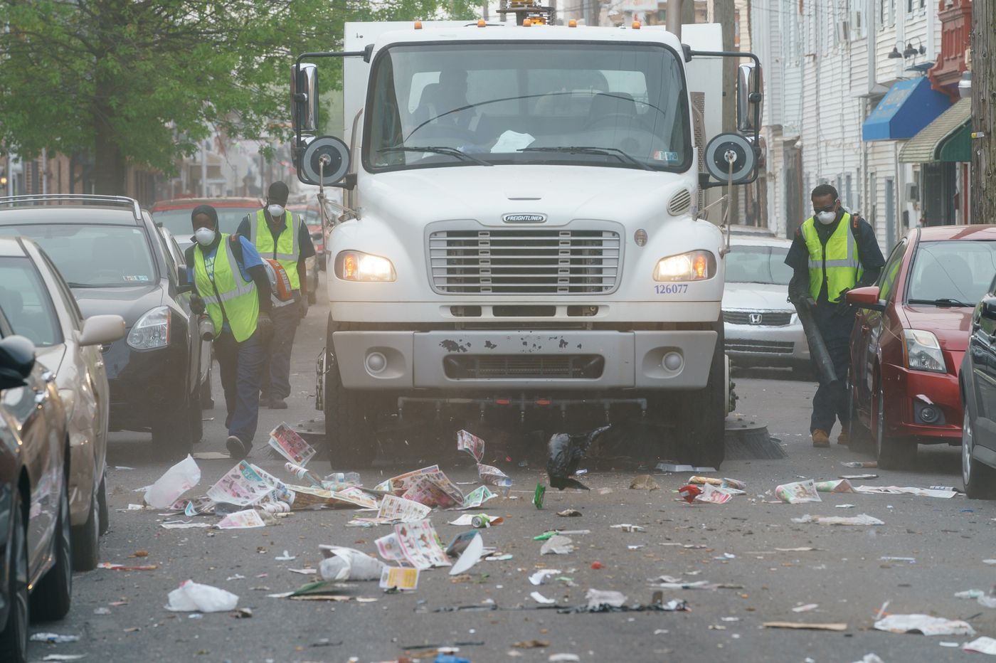 Surviving a trash tempest with South Philly's new street sweepers | Mike Newall