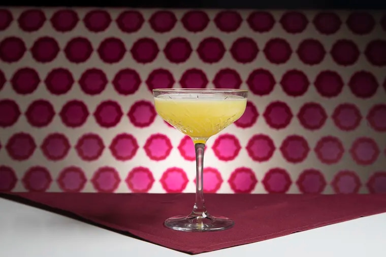 """The """"Charlie Sheen"""" cocktail is one of the many drinks at Libertine inspired by famous libertines. Calabrian chile oil stands-in for the tiger's blood."""