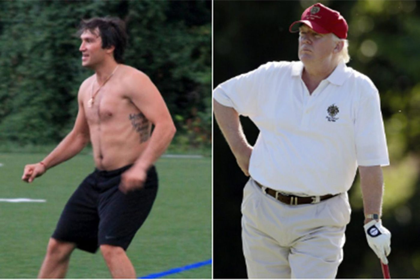 Doctor says Trump is 6-3, 239 pounds, and the Internet has so many athlete comparisons