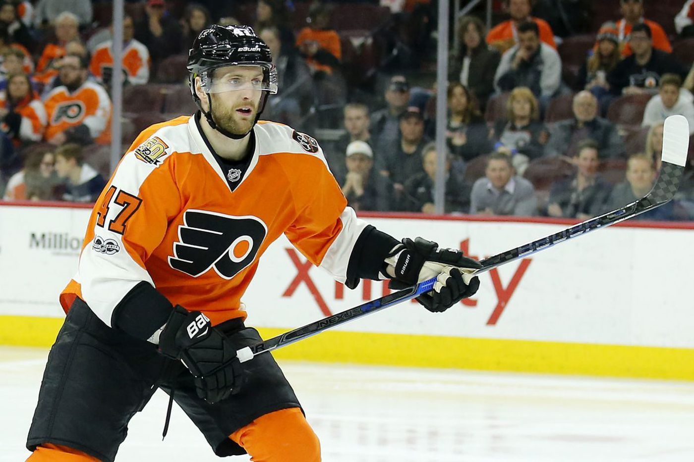 Flyers shake up all 3 defensive pairings because of Andrew MacDonald's injury
