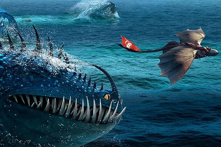 """A scene from """"How To Train Your Dragon 2."""" (AP Photo/DreamWorks Animation)"""