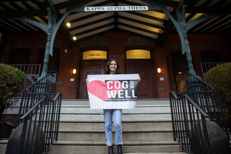 As president of CogWell, a club promoting open dialogue around mental health, Samantha Gold is training fraternity and sorority members in active listening.