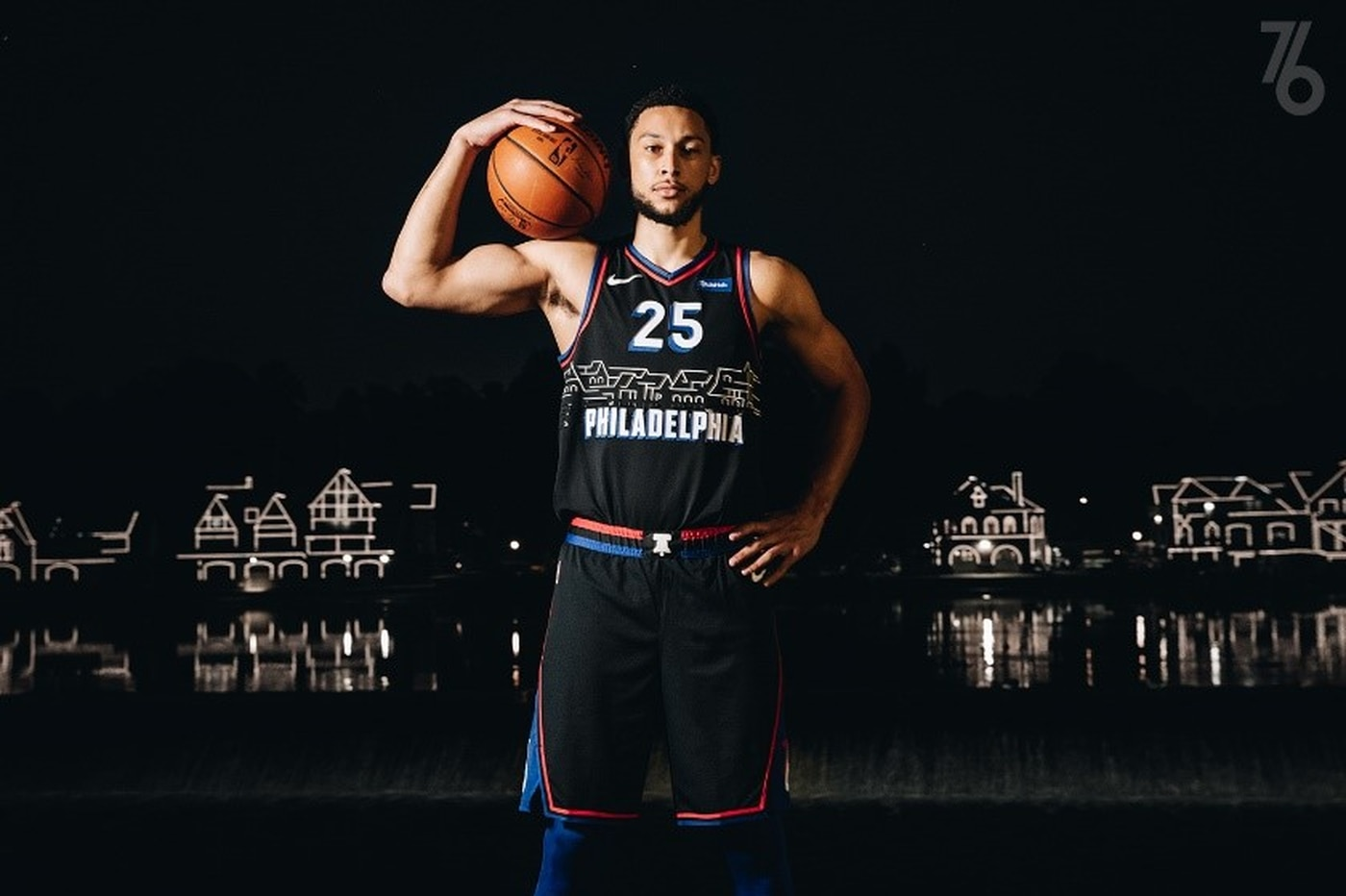 The Sixers unveil black city edition uniforms featuring Boathouse Row