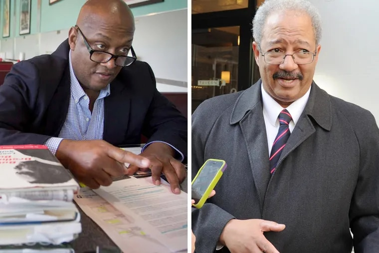 State Rep. Dwight Evans (left) will challenge embattled U.S. Rep. Chaka Fattah in the Democratic primary election.