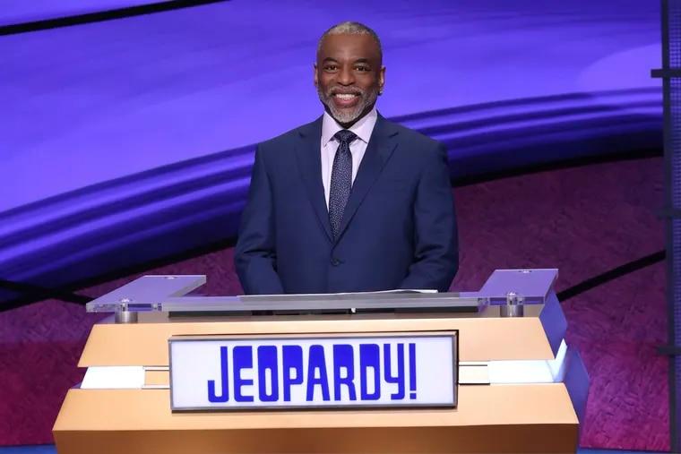 """Jeopardy!"" guest host LeVar Burton on the set of the game show. (Carol Kaelson/Jeopardy Productions, Inc. via AP)"