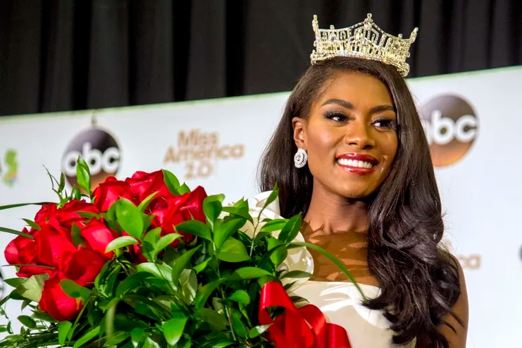 Nia Imani Franklin, the reigning Miss America.