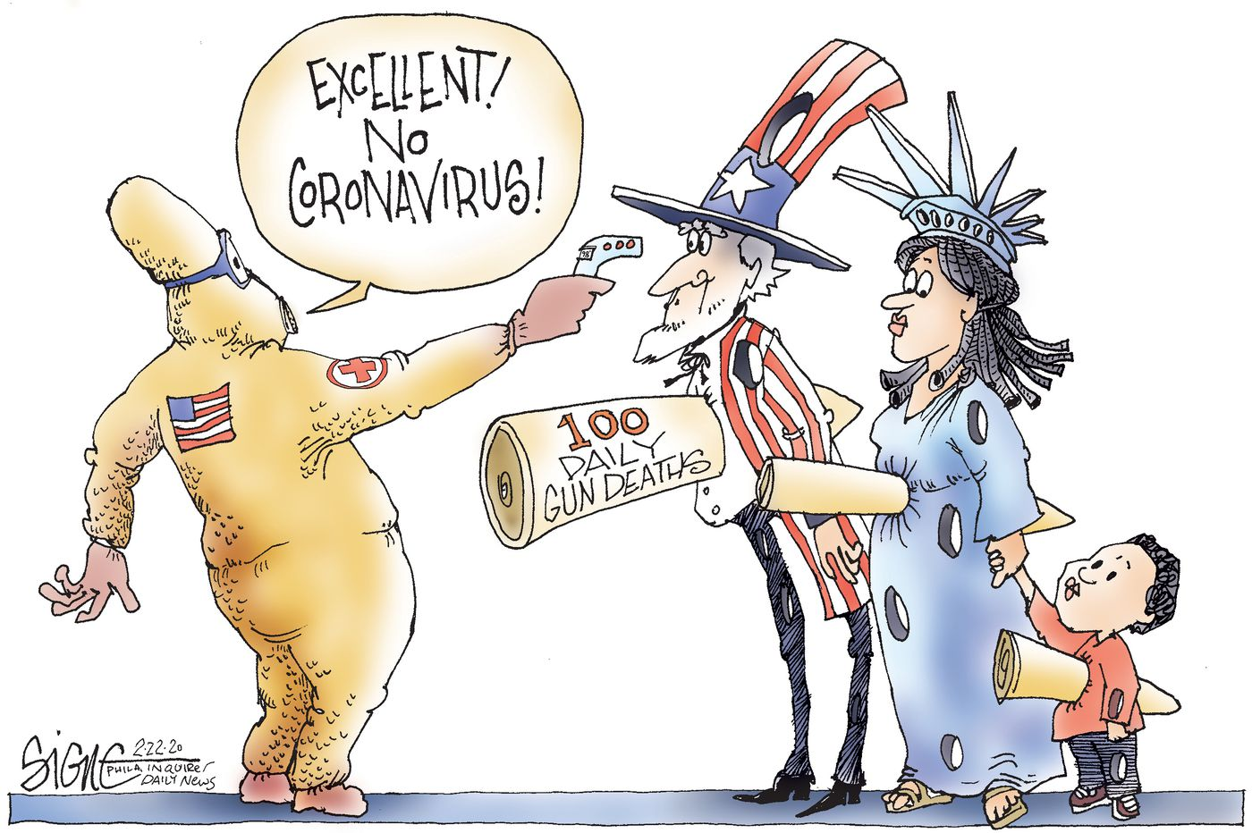 Political Cartoon: The unstoppable American virus