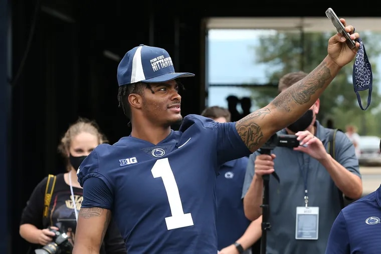 Penn State safety Jaquan Brisker during the team's media day on Aug. 7.