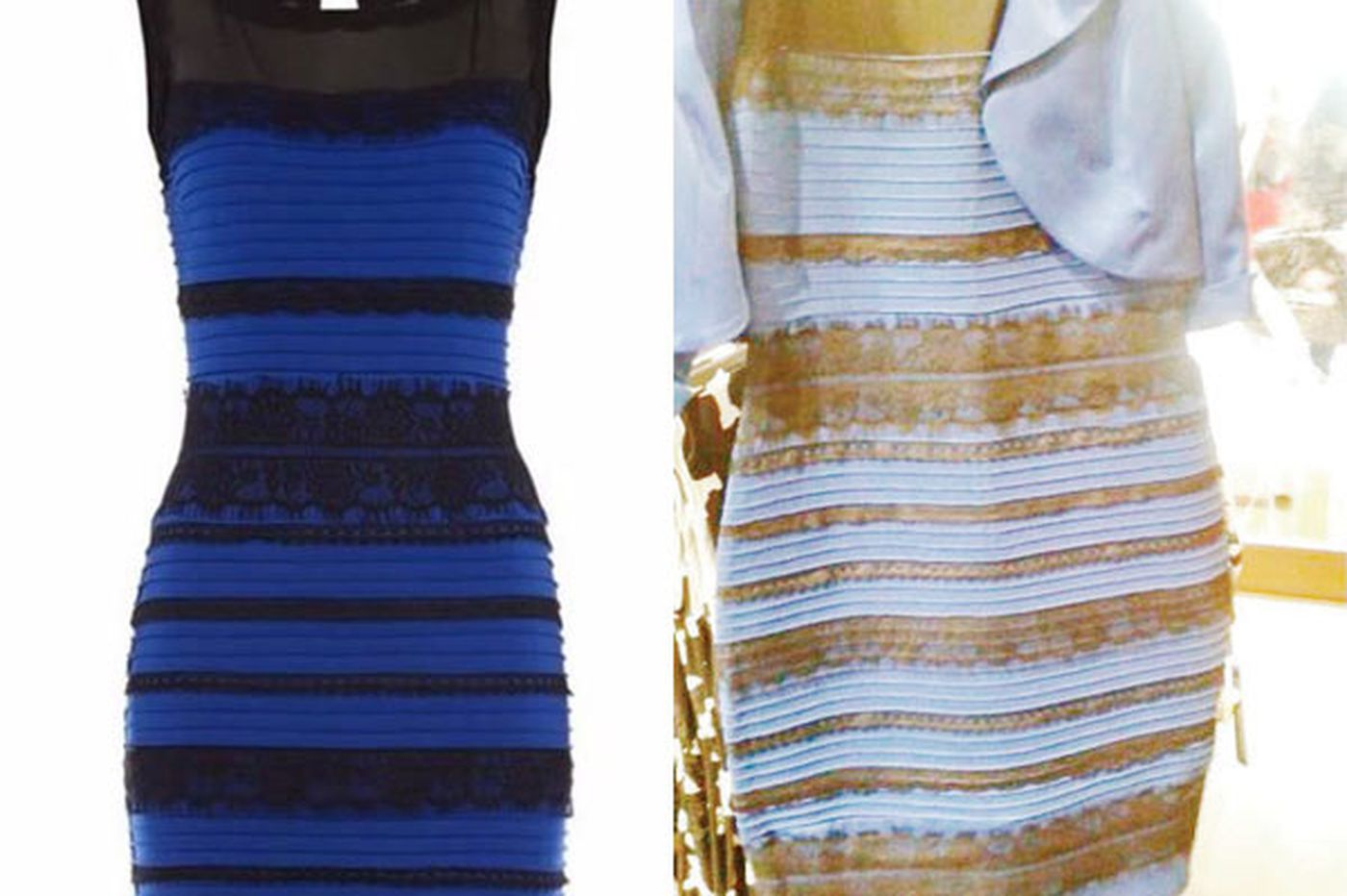 Why the dress is blue (but white to you)