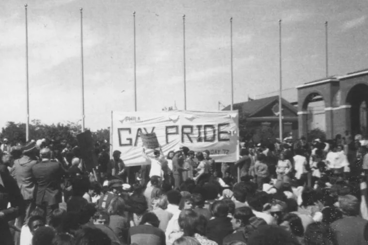 Thousands attended Philly's first gay pride march in 1972, despite fears that spectators might attack them.